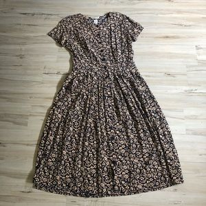 Cute 90s floral day dress L